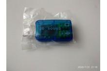 Carte son externe USB 2.0 stereo 3D 7.1 Audio avec Contrôle du Volume Mic Noir