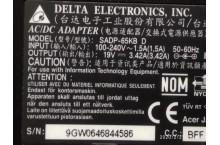 Chargeur Alimentation adaptateur secteur Delta Electronics SADP-65KB D
